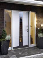 Haustür weiß modern  WMS - Fenster - Türen - Sonnenschutz
